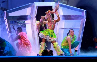 Lady Gaga at the Toyota Center in Texas (photo via the Houston Press)