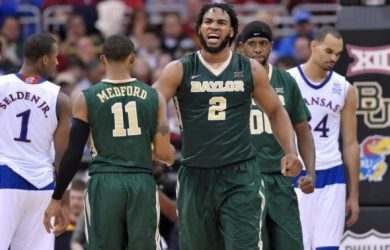 Baylor vs. Kansas in the 2015 Big 12 Championship Tournament.