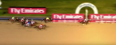California Chrome captures the 2016 Dubai World Cup.