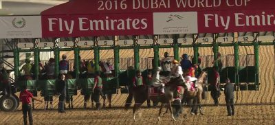 At the gate of the 2016 Dubai World Cup.