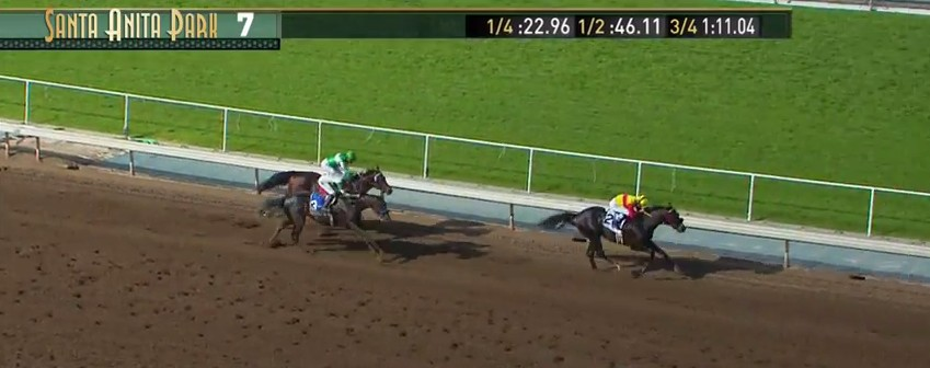 Danzing Candy holds off the late charge of Mor Spirit.
