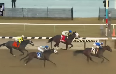 Shagaf (2) catches Laoban (1) at the wire, with Adventist (3) rounding out the trifecta.