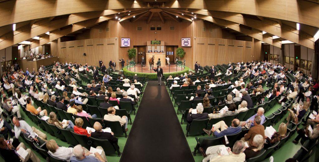 The Keeneland Sales Pavilion (photo via www.keeneland.com)