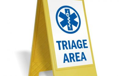Triage Area Floor Sign