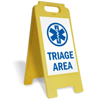 Triage Area Floor Sign