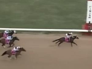 Untapable wins the 2015 Apple Blossom Handicap.