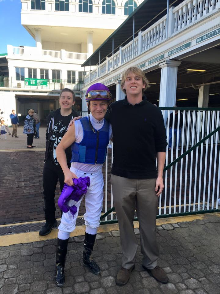 The author with jockey Calvin Borel.