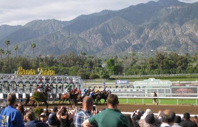 Santa Anita at the gate
