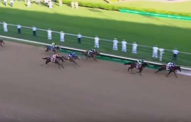 Nyquist bursts to the front in the Kentucky Derby.