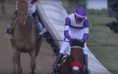 Nyquist after winning the 2016 Kentucky Derby.