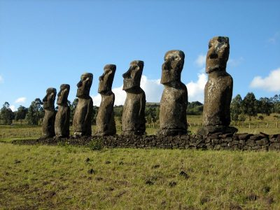 Stone Statues on Easter Island