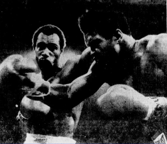 Ken Norton lands a blow in his second fight with Muhammad Ali. Trailing late in the fight, Ali won the 12th and final round and regained the NABF heavyweight title (AP photo).
