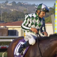 She's Not Here after winning the 2015 edition of the Yellow Ribbon Handicap. The Victoria Oliver-trained colt made it two-for-two with another victory in this year's renewal of the Yellow Ribbon at Del Mar.