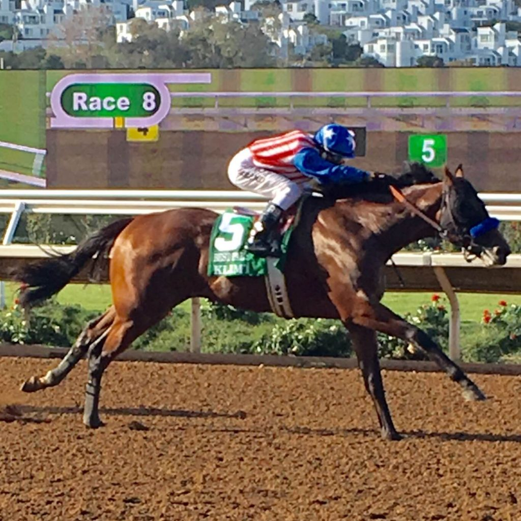 Klimt draws clear from Big League in the stretch of the Best Pal Stakes at Del Mar on Saturday.