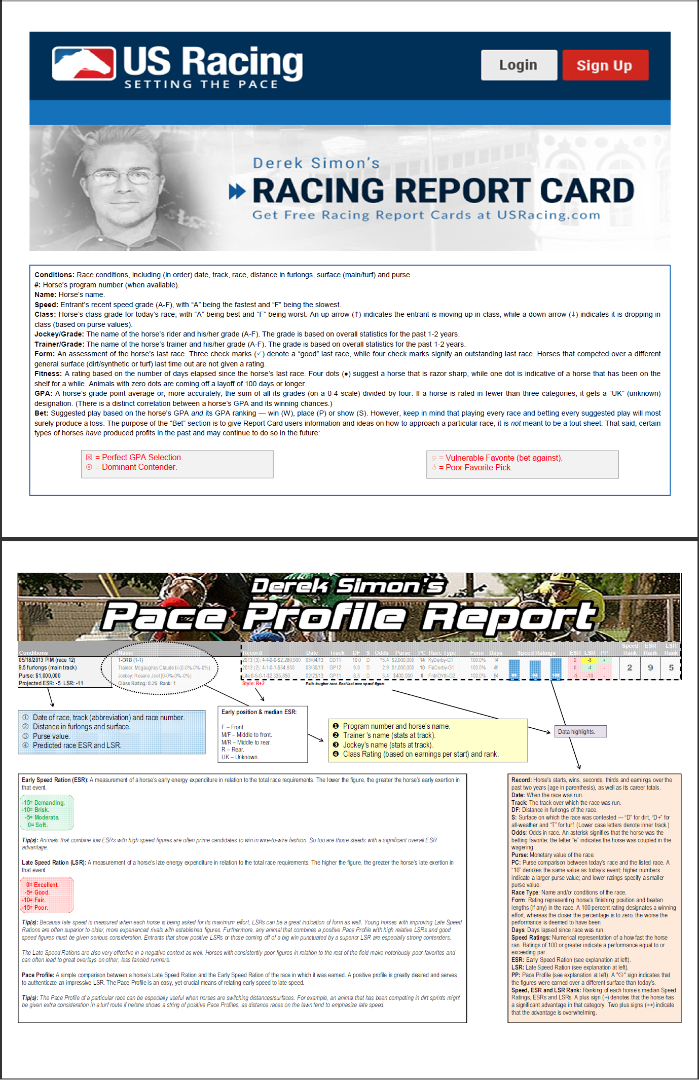 Handicapping Reports
