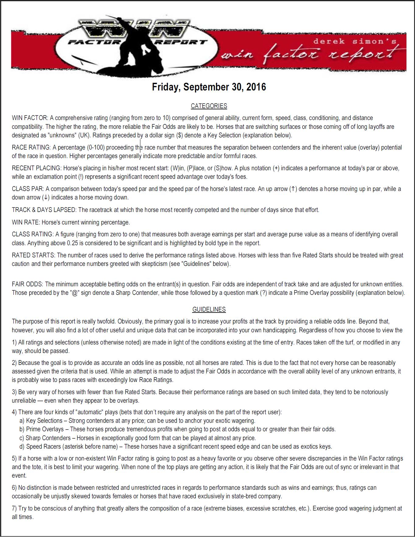 Handicapping Reports For Santa Anita Daily Racing News