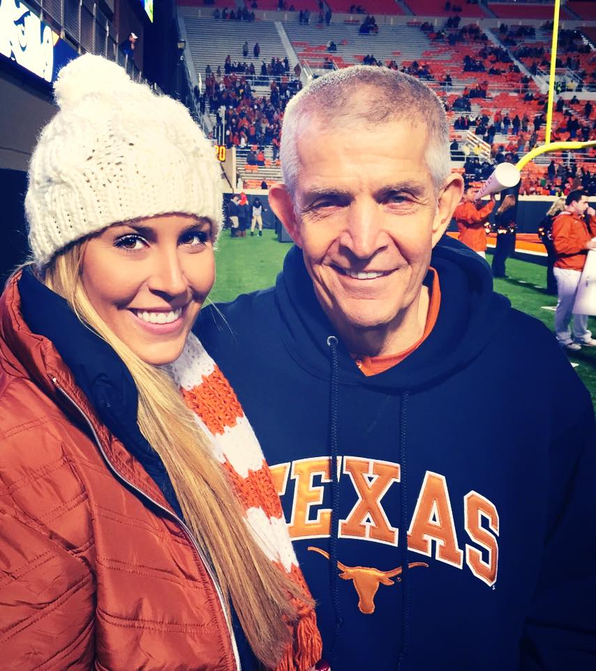 "Laura McIngvale-Brown and her father Jim ""Mattress Mack"" McIngvale (photo via Laura McIngvale-Brown)."