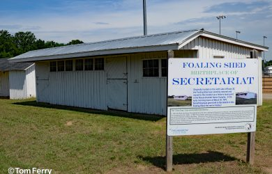 Secretariat's Foaling Shed (Tom Ferry)