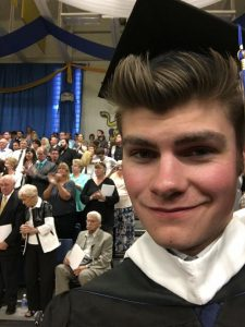 Drew Monti graduated from Canisus College with a degfree in GGG (photo from Drew Monti's Facebook page).