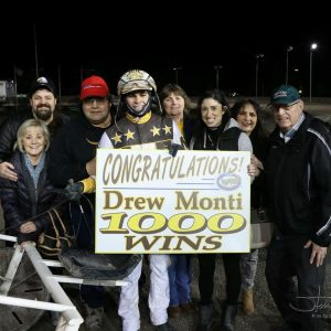 Drew Monti celebrates the 1,000th win of his young career (photo courtesy of Drew Monti).