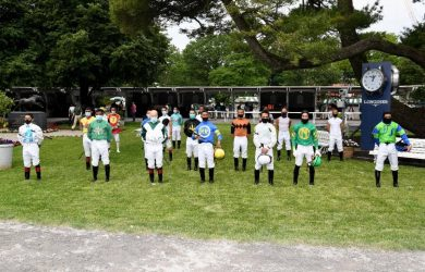 NYRA jockeys-moment of silence