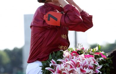 Florent Geroux and Shedaresthedevil  - Courtesy of Churchill Downs/Coady Photography.