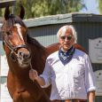 Bob Baffert and Maximum Security - Courtesy of Santa Anita press release