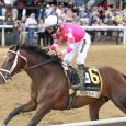 Rombauer #6 with Flavien Prat won the $1,000,000 Grade I Preakness Stakes at Pimlico Racecourse on Saturday May 15, 2021.  Photo Courtesy of Bill Denver/MJC